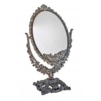 Зеркало настольное шарм, овальное, двухстороннее, с увеличением, цвет антр