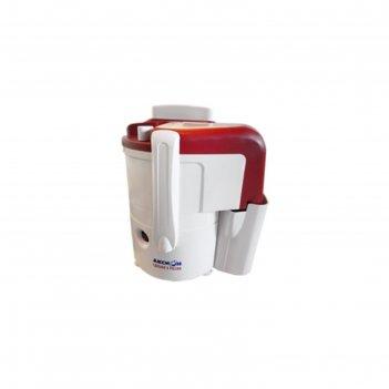 Соковыжималка аксион сц 32.01 джус, 250 вт, бело-красная