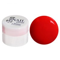 Гель-краска для ногтей 3-х фазный, 8мл, 12, цвет неон красный