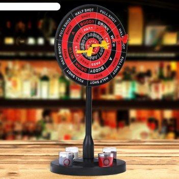 Игра пьяный дартс, мишень d=20 см, 4 стопки, 4 дротика, 41.5х19х20 см