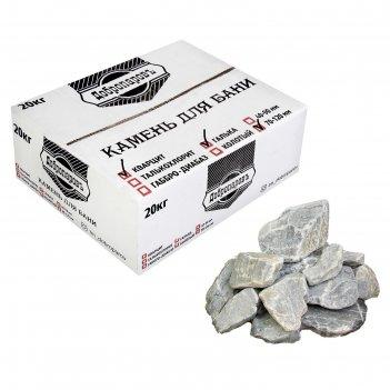 Камень для бани кварцит, галька, добропаровъ, коробка 20кг, фракция 70-120
