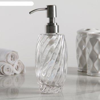Дозатор для жидкого мыла грация, стекло