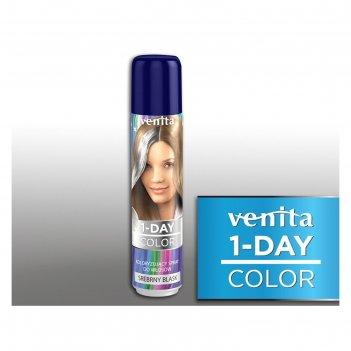 Оттеночный спрей для волос 1-day color, 06 серебряный блеск, 50 мл