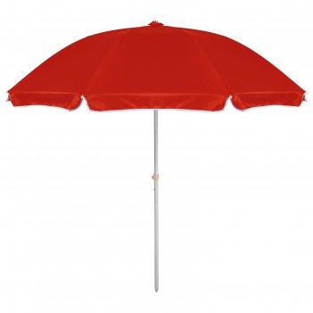 Зонт пляжный классика с механизмом наклона, d=240 cм, h=220 см, микс