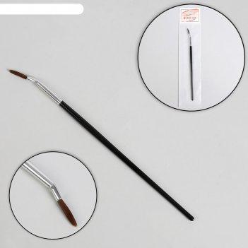 Кисть для дизайна ногтей, загнутая, точечная, 18,5 см, цвет чёрный