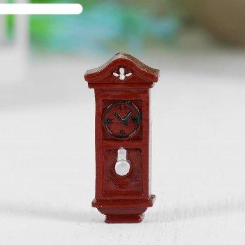 Миниатюра кукольная часы напольные, набор 2 шт, размер 1 шт 3,5*1,6*0,8 см