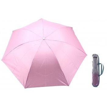 Зонт механический, ветроустойчивый, в футляре, внутри металлик, цвет розов
