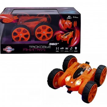 Радиоуправляемая модель wincars «акробат», с подсветкой и usb-зарядкой, 18