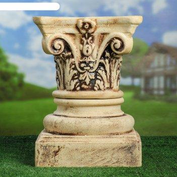 Садовая фигура колонна композитная малая шамот