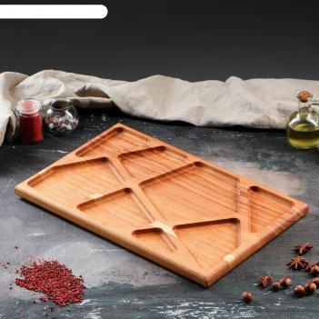 Блюдо для подачи мюнкер, 50 х 30 см, массив ясеня