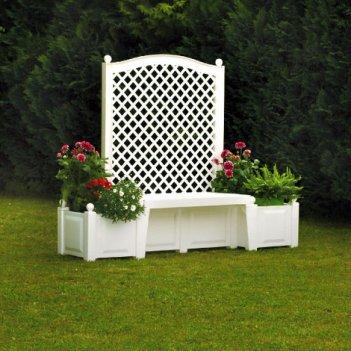 Садовая скамейка копенгаген, белая