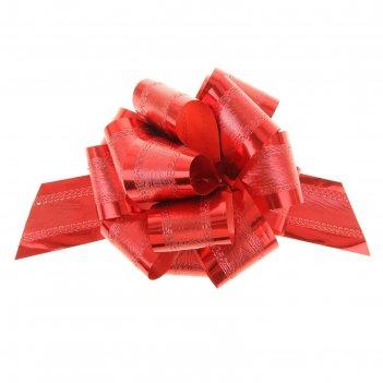 Бант-шар №5 полоса, красный