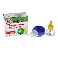 Комплект для уничтожения комаров nadzor: жидкость на 30 ночей и универсаль