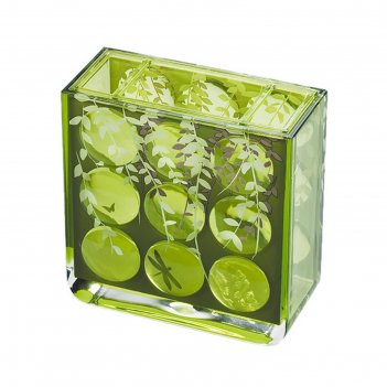Стакан для зубных щеток acryl 3d magic emerald
