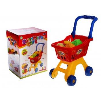 Игровой набор, тележка супермаркет с продуктами, высота: 50 см