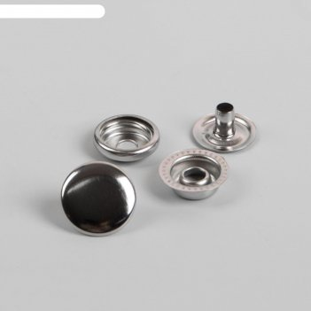 Кнопки, d = 15 мм, цвет никель