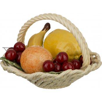 Изделие декоративное корзина с фруктами диаметр=22 см высота=13 см