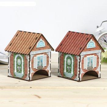 Чайный домик домик с лепниной лев 15х10х10 см микс