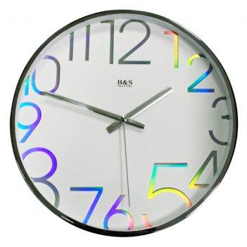 Настенные часы из металла b&s shc-300 cha(w)