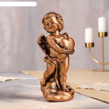 Статуэтка ангел с сердцем №2 бронза