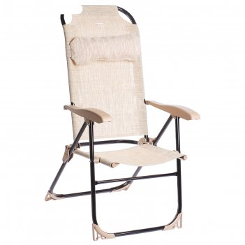 Кресло-шезлонг складное 2, размер 750x590x1090мм, цвет песочный к2