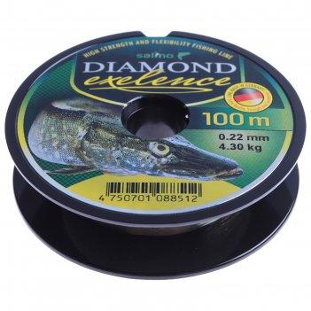 Леска моно. salmo diamond exelence 100м 0,22мм