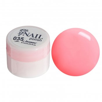 Гель-краска для ногтей 3-х фазный, 8мл, 35, цвет неон розовый