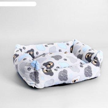 Лежанка пухлик поплин perseiline лe-50 №2 45 х 35 х 15 медведи