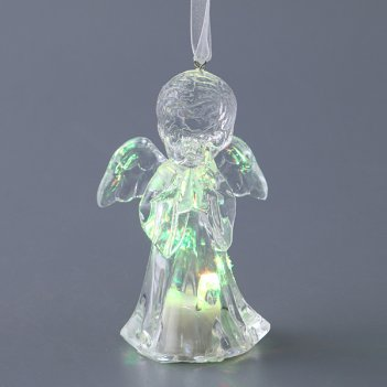 Фигурка ангелочек с подсветкой высота=10 см.