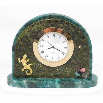 Часы ящерица змеевик