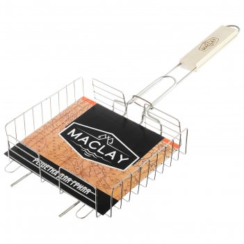 Решетка гриль для курицы maclay, нержав. сталь, размер  220*205