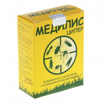 Средство для обработки территорий от клещей и насекомых медилис ципер, 2х5