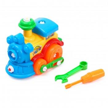 Конструктор детский паровоз, цвета микс