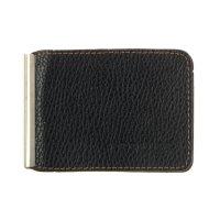 Зажим для денег+карман для мелочи, натуральная кожа z-2-21-9 джинс черный