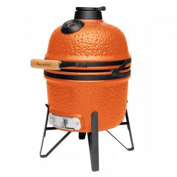 Керамический уличный гриль маленький 40x33x58 см, оранжевый