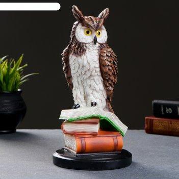 Статуэтка сова на книгах, 25х12 см