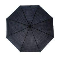 Зонт автоматический клетка, 017001, r=53см, цвет чёрно-синий