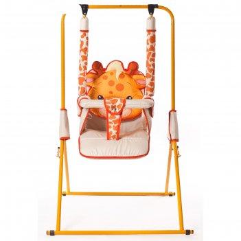 Качели детские напольные «новинка. жираф»