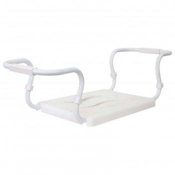 Сиденье для ванной белое, стальной каркас, нагрузка до 120 кг