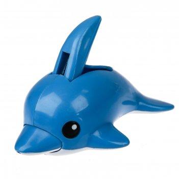 Книпсер маникюрный детский «дельфин» с колпачком и пилочкой, от 0 мес.