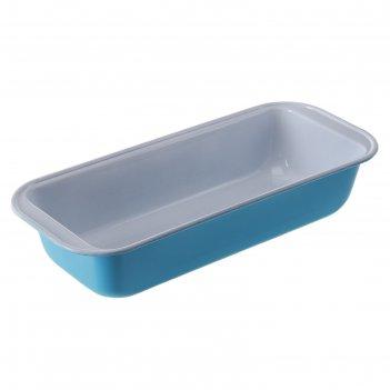Форма для выпечки с керамическим покрытием 30х13х6 см кекс, цвета микс