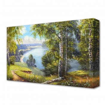 Картина на холсте летняя тишина 60*100 см