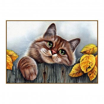 Алмазная мозаика рыжий кот, 31 цвет