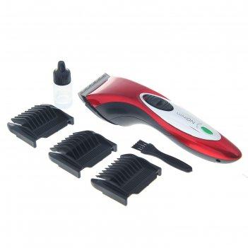 Машинка для стрижки волос luazon lst-03, акб 600 mah, насадки -3/6, 6/9, 9