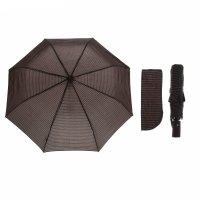 Зонт полуавтоматический «полоска», 3 сложения, 8 спиц, r = 49 см, цвет кор