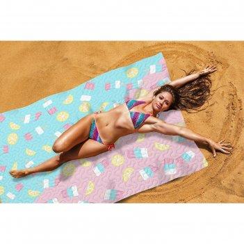 Пляжное покрывало «лимонное мороженое», размер 145 x 200 см