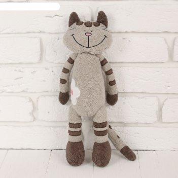 Мягкая игрушка кот полосатик, 33 см