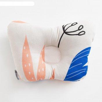Подушка анатомическая крошка я  african friends, 26х22 см, 100% хлопок