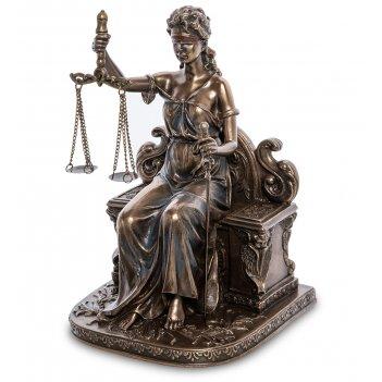 Ws-1004 статуэтка фемида - богиня правосудия