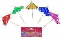 Пика для канапе зонтик, звезды, набор 12 шт